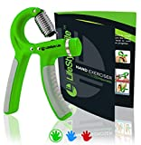 Grip Strengthener Forearm Exerciser Hand Strength Grips with Adjustable Resistance 22-88 Lbs for Finger, Wrist and Arm Training (Green)