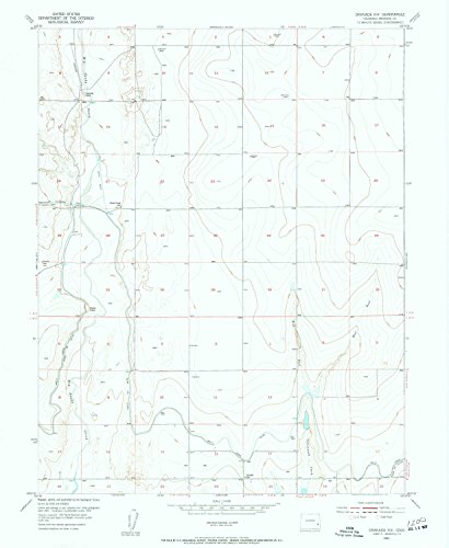 YellowMaps Granada NW CO topo map, 1:24000 scale, 7.5 X 7.5 Minute, Historical, 1955, updated 1956, 26.8 x 22 IN - Tyvek