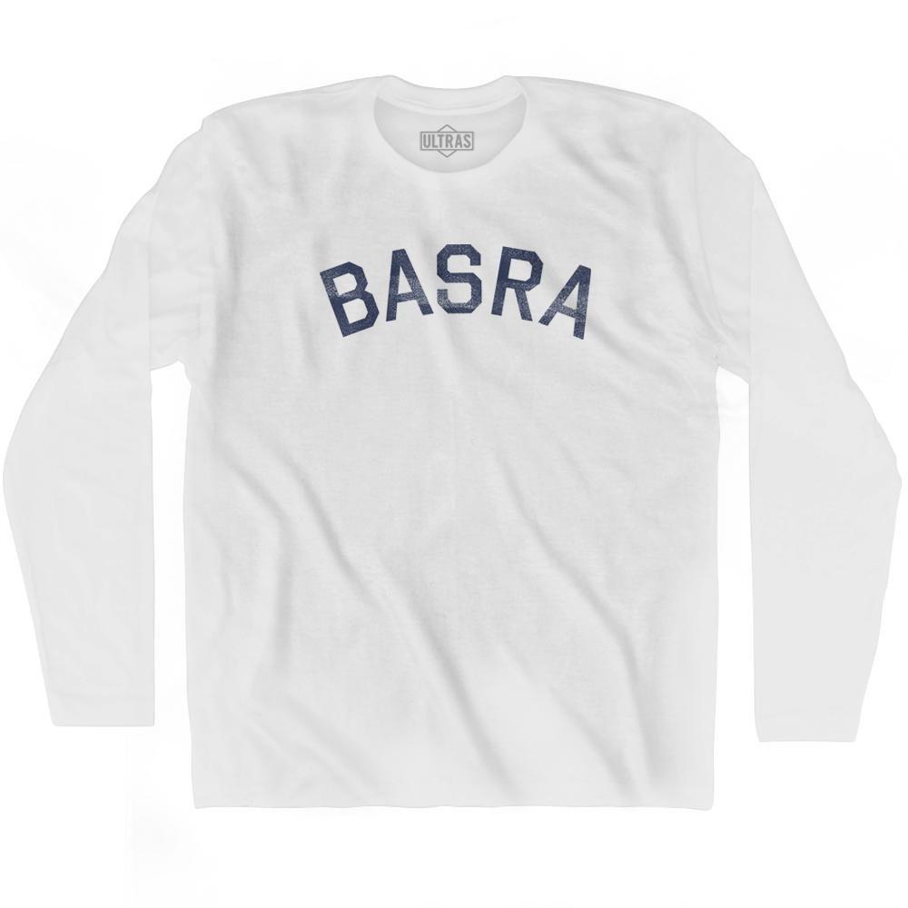 Basra Vintage City Adult Cotton Long Sleeve T-shirt