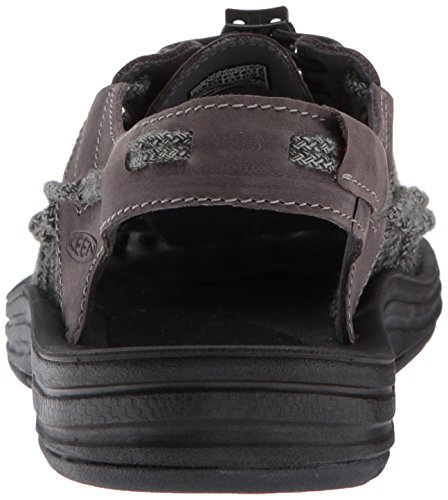 KEEN Mens Uneek Leather-m Sandal, Magnet/Black SC, 9.5 M US
