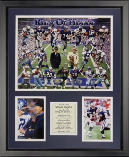 Legends Never Die Dallas Cowboys Framed Photo Collage - Ring of Honor, 16