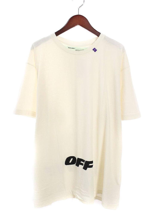 (オフホワイト) OFF-WHITE 【18AW】【WING OFF S/S T-SHIRT】ロゴプリントオーバーサイズTシャツ(L/ホワイト) B07FQT1TX9  -