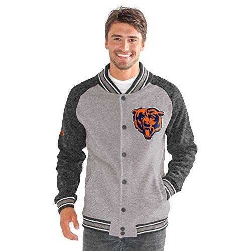 NFL Chicago Bears Adult Men The Ace Sweater Varsity Jacket, X-Large, (Varsity Sweater)