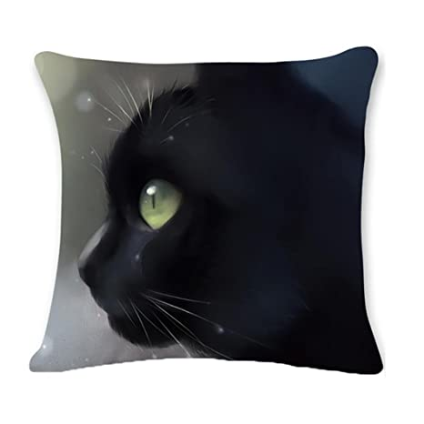 ronamick almohada funda de cojín 45 cmx45 cm gato decorativa ...