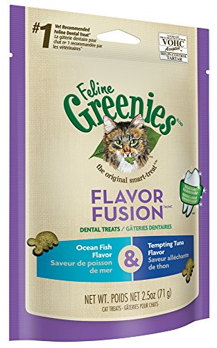 FELINE-GREENIES-FLAVOR-FUSION-Dental-Cat-Treats-Ocean-Fish-and-Tempting-Tuna-Flavors-25-oz