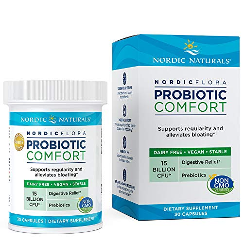 - Nordic Naturals Flora Probiotic Comfort - Probiotic for Intestinal Health, For Those With Digestive Issues, 30 Capsules