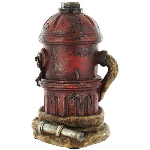 Red Brown Black Fire Hydrant Fire Hose Firefighter Coin - Piggy Bank Fire Hydrant