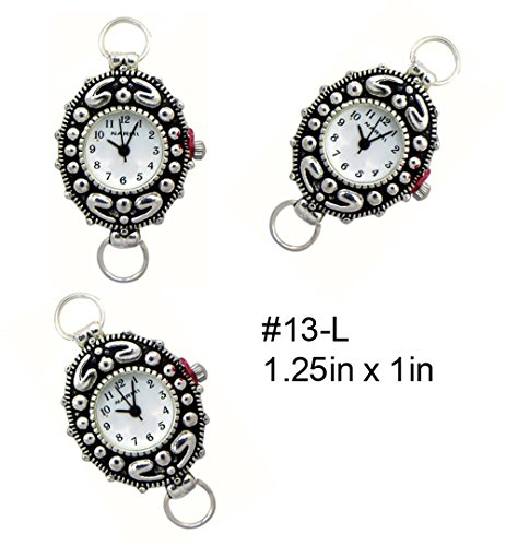PlanetZia 2pcs Beading Watch Faces For Interchangeable Beaded Bands TVT-13L