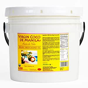 Organic 100% Virgin Coconut Oil - 128 oz (3.79 liters) Natural Skin/Hair Care Carrier : ZERO PRESERVATIVES, ZERO ADDITIVES : Native Clean Fresh - Better Aroma-Lock/Anti-Rancid Shield