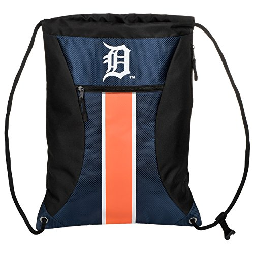 - Detroit Tigers Big Stripe Zipper Drawstring Backpack