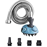 ihoven Dog Bath Shower Head Spray Bathing Tub Pet Grooming Brush Cat Nail Clipper Cordless Rechargeable Electric Low Noise Pet Grooming Clippers Kit for Dogs and Cats (Bath Shower - $19.99) (Misc.)