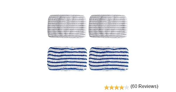 4 paños de microfibra de repuesto diseñados para Rowenta Clean ...