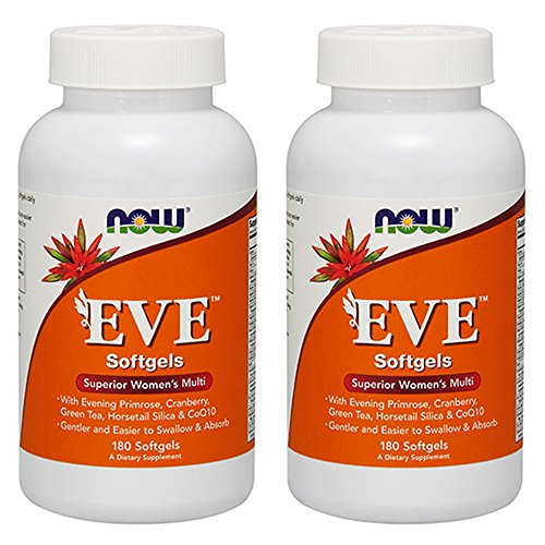 NOW Foods Eve™ Women's Multiple Vitamin, 180 Softgel (2 Pack)