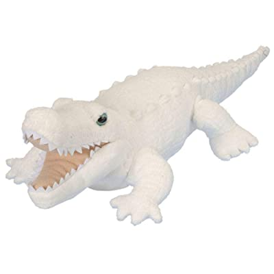 Wild Republic White Alligator Plush, Stuffed Animal, Plush Toy, Gifts for Kids, Cuddlekins 12 Inches: Toys & Games