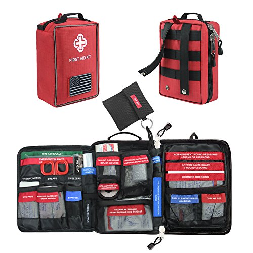 First Aid Kit Soft Case Molle Medical EMT Pouch Bag Waterproof for Home School Car Office Emergency Camping Hunting Sports