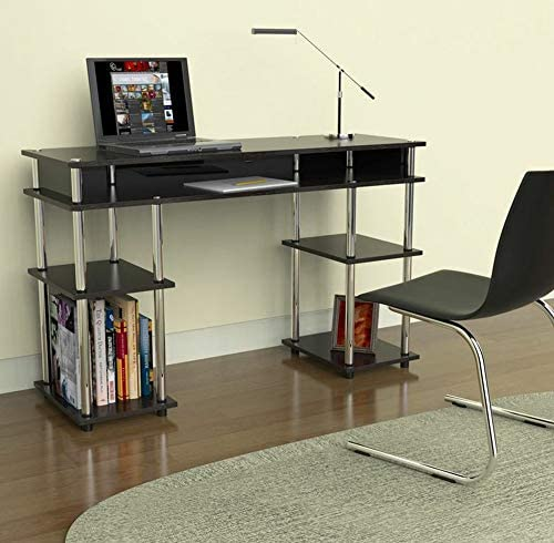Convenience Concepts Modern No Tools Student Desk, Black Renewed