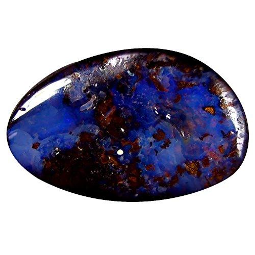 Boulder Opal - 7.43 ct Fancy Shape (19 x 12 mm) Play of Colors Australian Koroit Boulder Opal Natural Loose Gemstone
