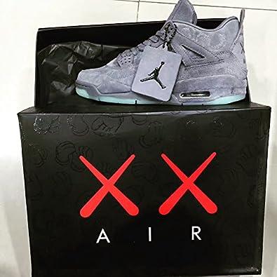the latest 66a1e 7969d Air Jordan 4 x KAWS Retro Grey  Amazon.co.uk  Shoes   Bags