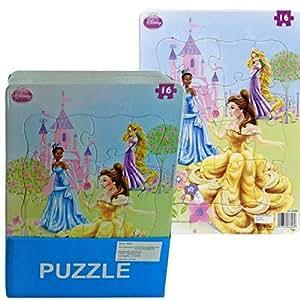 Amazon Com Disney Princess 16 Piece Jigsaw Puzzle Toys