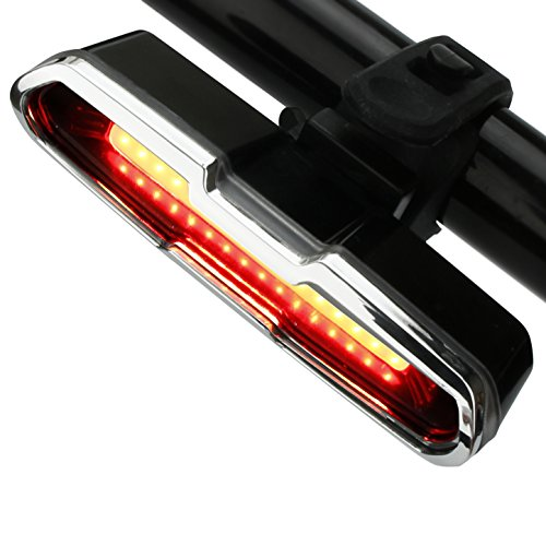 ThorFire Bike Light Red/White 5 Modes USB Rechargeable Bicycle Bike Tail Light High Intensity LED Bicycle Rear Light Cycling Safety Flashlight Fits on Any Road Bikes, Helmets, Easy to Install