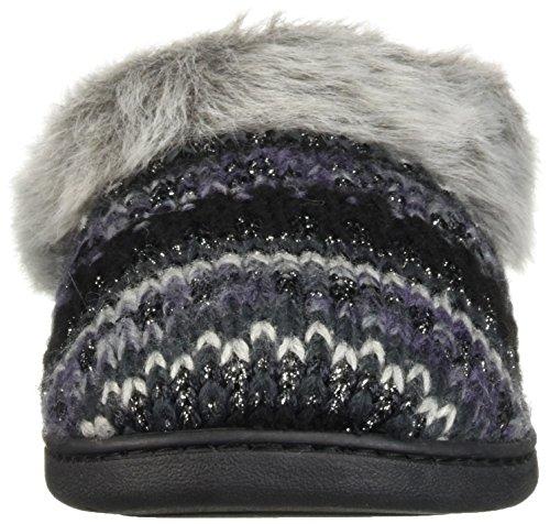 Wide Width Knit Dearfoams Black Slipper Clog Women's FxwUnUOHq