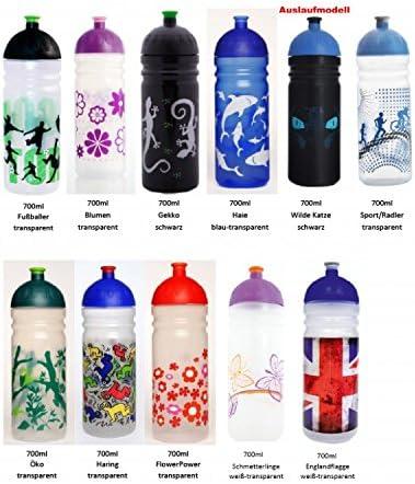 ISYbe Trinkflasche 0,7L New York Wasserflasche Kinder Sport BPA-frei