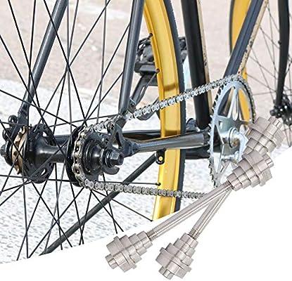 Eje de Cubo de Bicicleta, Buje Delanteros Eje Bicicleta Sólido Eje ...