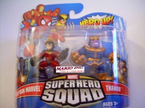 - Marvel Superhero Squad Series 18 Mini 3 Inch Figure 2Pack Captain Marvel Thanos