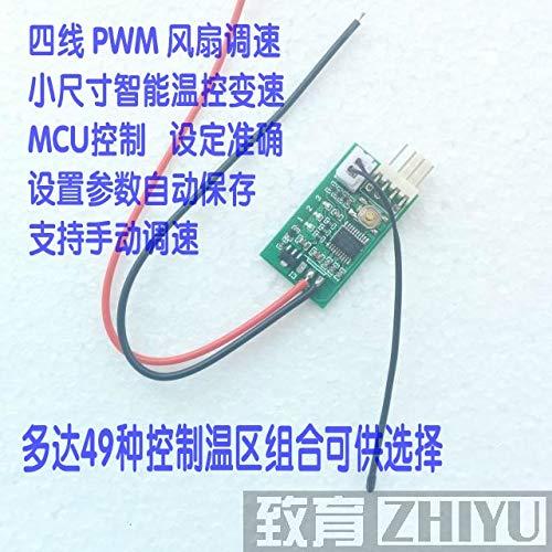 Lysee Single channel small volume 12V PWM four wire fan temperature control governor cabinet cabinet computer fan temperature control - (Color: 6) (Governors Computer)