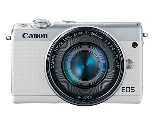 Canon EOS M100 Mirrorless Camera w/15-45mm Lens & 55-200mm Lens - Wi-Fi, Bluetooth, and NFC Enabled - Interchangeable Canon Lens