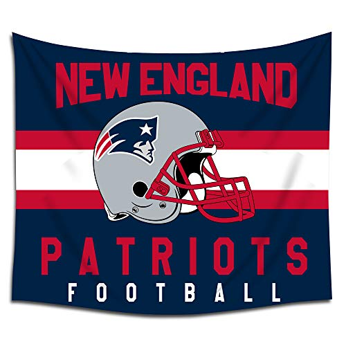 Tapestry New Patriots England (Jacoci New England Patriots Wall Tapestry Hanging Stripe Design for Bedroom Living Room Dorm Handicrafts Curtain Home Decor Size 50x60 Inches)