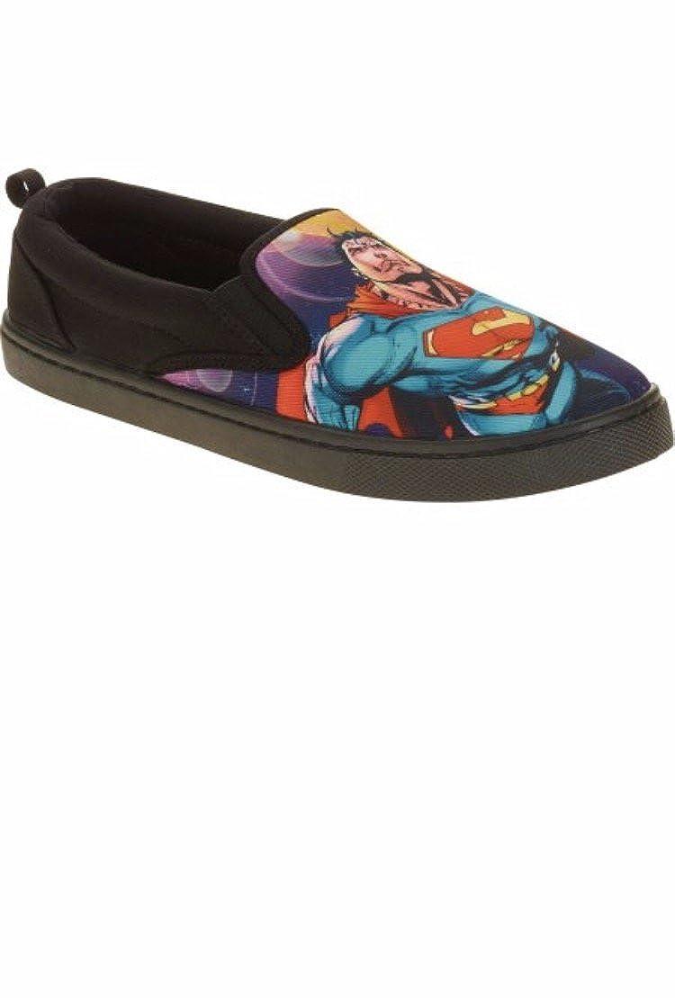 DC Comics Superman Slip-on Shoe Mens 13 Black