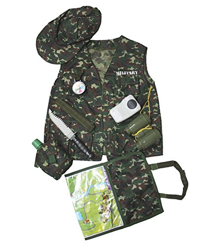 [Camouflage Army Soldier Occupational Children Costume Party Clothing 3-7y] (Child Army Soldier Costumes)