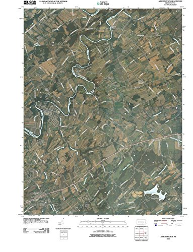 Pennsylvania Maps | 2010 Abbottstown, PA USGS Historical Topographic Aerial Map | 24in & 31in Fine Art Cartography Reproduction Print