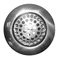 LASCO 03-1073 Chrome Plated Stainless Steel Body Flat Top Kitchen Sink Strainer Assembly for 3-1/2-Inch Opening