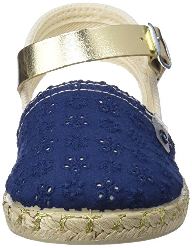 Conguitos Sandalia Yute, Alpargatas Para Niñas Azul (Marino)