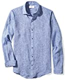 Buttoned Down Mens Fitted Spread-Collar Linen Sport Shirt