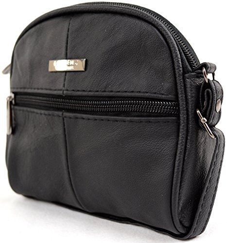Womens Body Leather Cross Bag Handy Small Black Shoulder Ladies HxBqn7Zd7