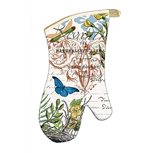 Michel Design Works 4 Piece Into The Woods Birds and Butterflies Kitchen Set - 2 Towels, Oven Mitt, Potholder by Michel Design Works (Image #2)