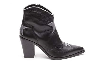 aspetto dettagliato scarpe sportive consegna veloce Baliè Stivaletti Neri Bassi Texani Stivale Donna Artigianali ...
