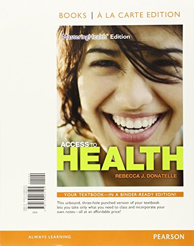 Access to Health, Books a la Carte Plus MasteringHealth with eText -- Access Card Package (14th Edition)