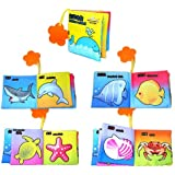 1pc Intelligence Development Cloth Cognition Book Learning & Activity Toys for Kids Baby (Marine Animal)