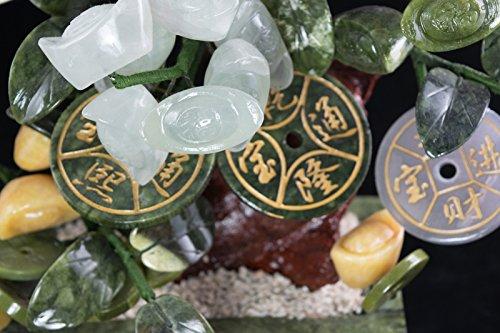 Vintage Chinese Carved Jade & Semi Precious Stone Shohin Bonsai Tree # 104 by Calibonsai (Image #5)