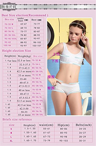 78ea0a167 MANJIAMEI Puberty Girls Lace Dot Cotton Underwear Set For Teenage Girls   Amazon.co.uk  Clothing