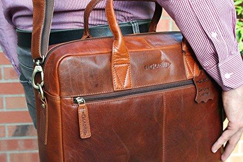 Gladius Gladius braun - Bolso bandolera  Hombre Mujer unisex marrón marrón 40 cm x 32 cm x 11 cm