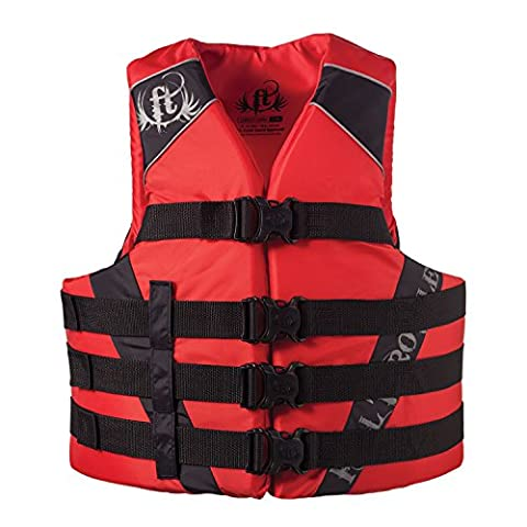 Full Throttle Adult Dual-Sized Nylon Water Sports Vest, Red, 4X-Large/7X-Large - Infant Nylon Vest
