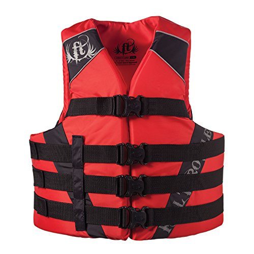 Absolute Outdoor Full Throttle Adult Nylon Water Sports Vest, Red (L/XL)
