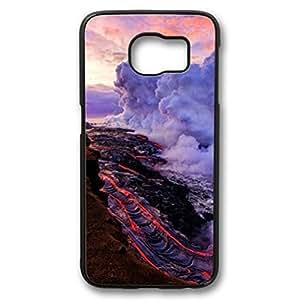 iCustomonline Nature Coconut Tree Sky Back Case Cover for Samsung Galaxy S6 Edge Black