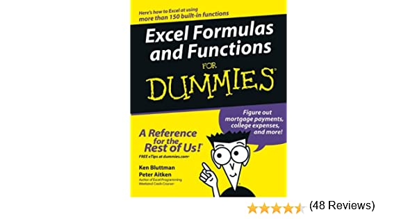 Amazon.com: Excel Formulas and Functions For Dummies (For Dummies ...