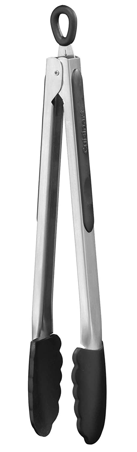 Cuisinart CTG-00-12STN Silicone-Tipped 12-Inch Tongs